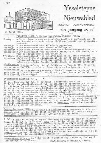 Ysselsteyns Nieuwsblad 1976-04-23