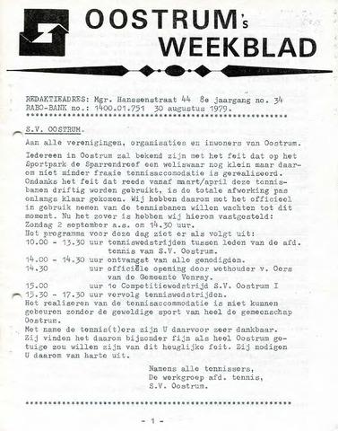 Oostrum's Weekblad 1979-08-30