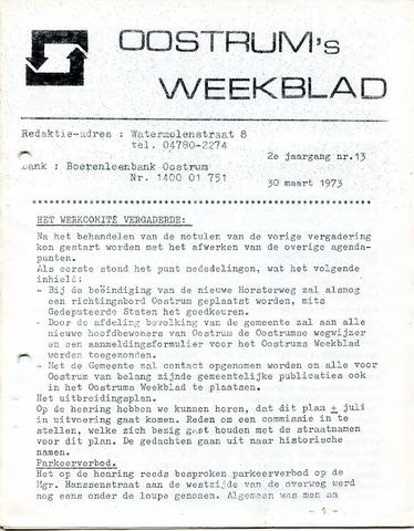 Oostrum's Weekblad 1973-03-30