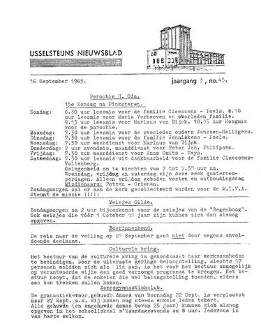 Ysselsteyns Nieuwsblad 1965-09-16
