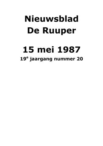 Dorpsblad Leunen-Veulen-Heide 1987-05-15