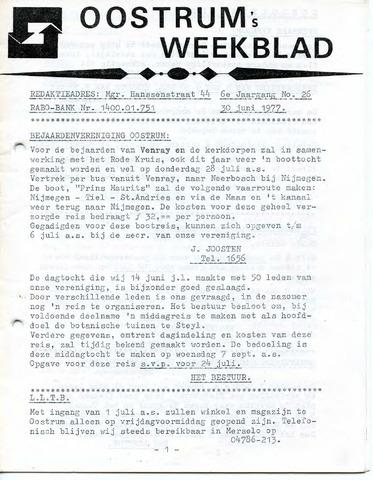 Oostrum's Weekblad 1977-06-30