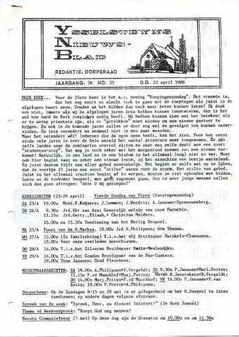 Ysselsteyns Nieuwsblad 1988-04-22