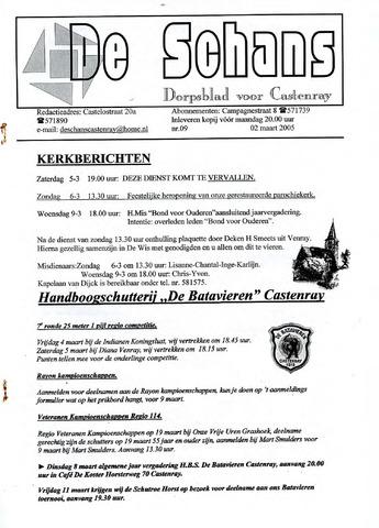 Castenrays dorpsblad De Schans 2005-03-02