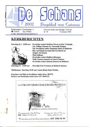 Castenrays dorpsblad De Schans 2002-01-23