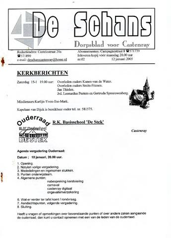 Castenrays dorpsblad De Schans 2005-01-12