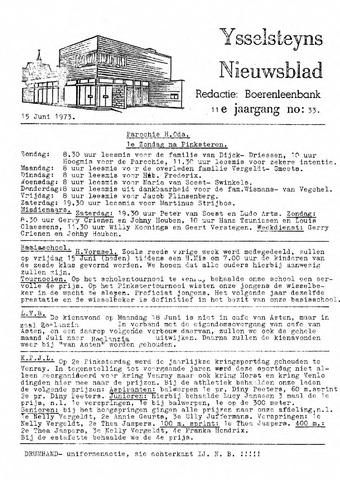 Ysselsteyns Nieuwsblad 1973-06-15