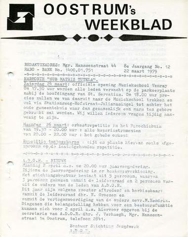 Oostrum's Weekblad 1979-03-22