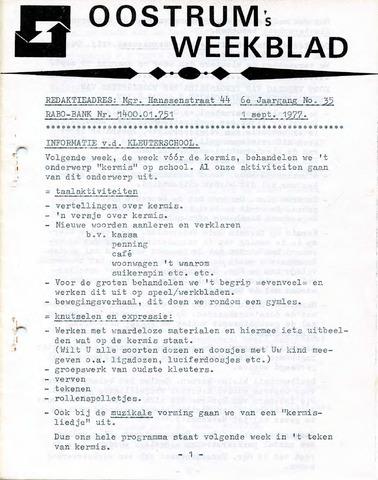 Oostrum's Weekblad 1977-09-01