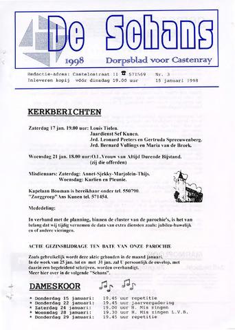 Castenrays dorpsblad De Schans 1998-01-15