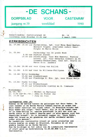 Castenrays dorpsblad De Schans 1990-03-06