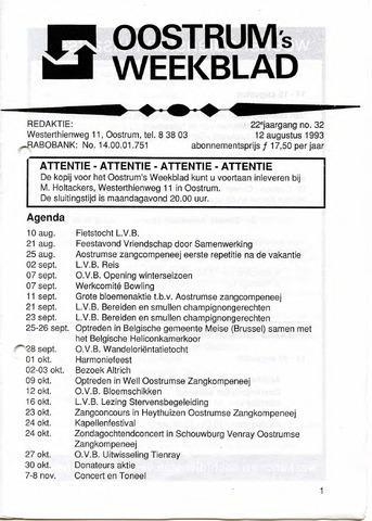 Oostrum's Weekblad 1993-08-12