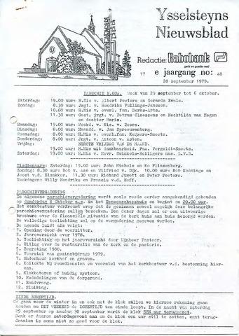 Ysselsteyns Nieuwsblad 1979-09-28