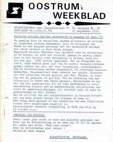 Oostrum's Weekblad 1979-09-27