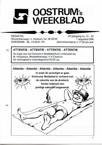 Oostrum's Weekblad 1996-08-01
