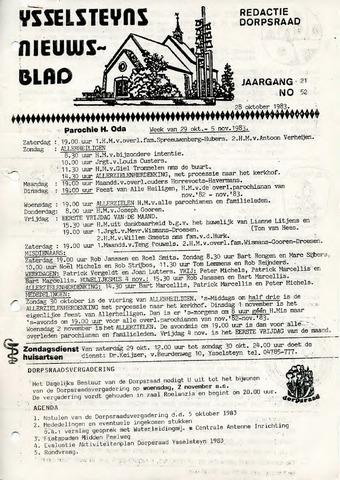 Ysselsteyns Nieuwsblad 1983-10-28