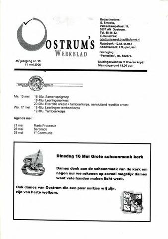 Oostrum's Weekblad 2006-05-11