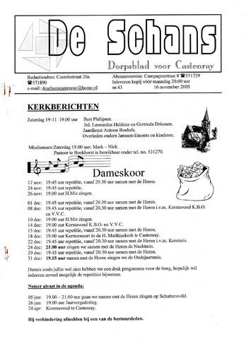 Castenrays dorpsblad De Schans 2005-11-16