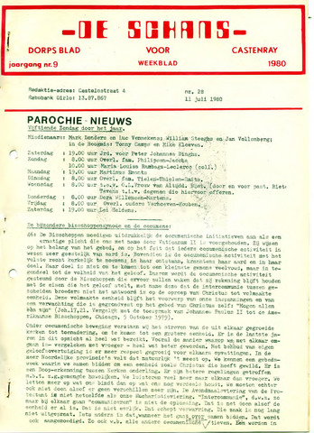 Castenrays dorpsblad De Schans 1980-07-11