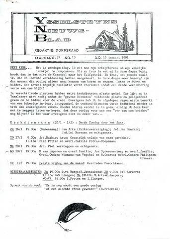 Ysselsteyns Nieuwsblad 1991-01-25