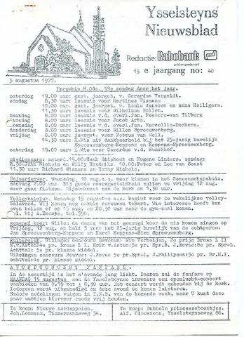 Ysselsteyns Nieuwsblad 1977-08-05