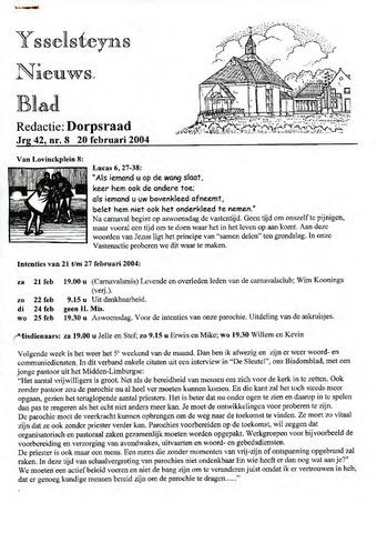 Ysselsteyns Nieuwsblad 2004-02-20