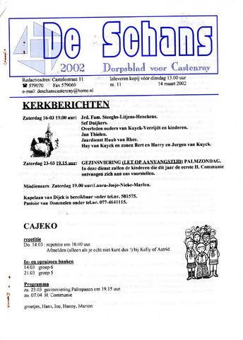 Castenrays dorpsblad De Schans 2002-03-14