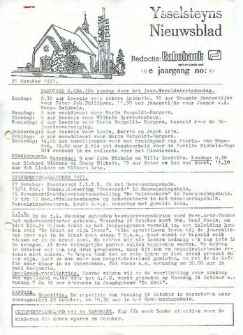 Ysselsteyns Nieuwsblad 1977-10-21