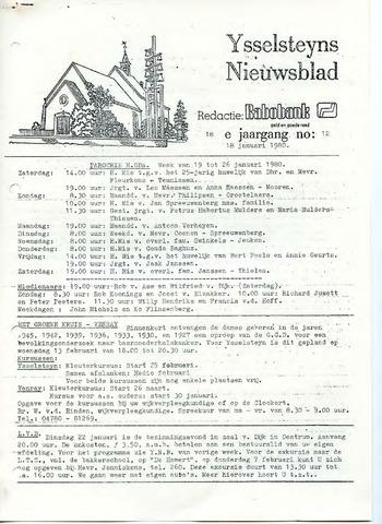 Ysselsteyns Nieuwsblad 1980-01-18