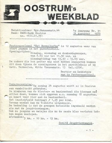 Oostrum's Weekblad 1975-08-14