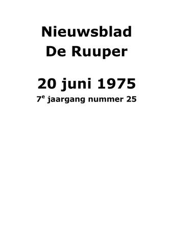 Dorpsblad Leunen-Veulen-Heide 1975-06-20