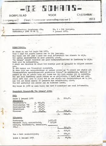 Castenrays dorpsblad De Schans 1973