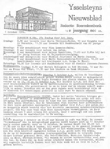 Ysselsteyns Nieuwsblad 1976-10-01