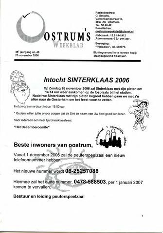 Oostrum's Weekblad 2006-11-23