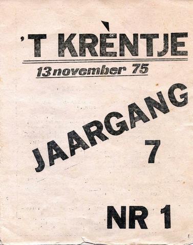 Oirlo's dorpsblad 't Krèntje 1975-11-13