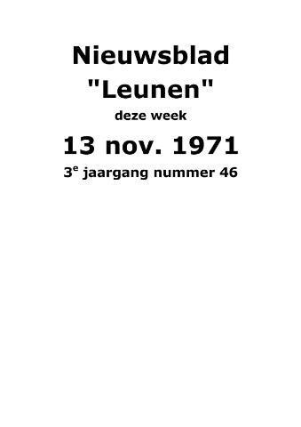 Dorpsblad Leunen-Veulen-Heide 1971-11-13