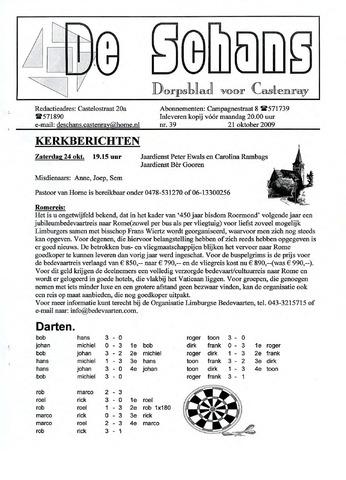 Castenrays dorpsblad De Schans 2009-10-21