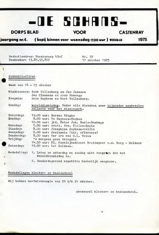 Castenrays dorpsblad De Schans 1975-10-17