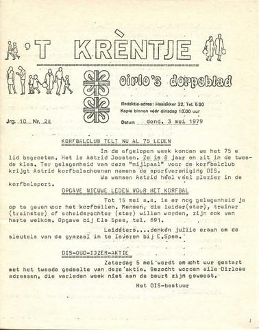 Oirlo's dorpsblad 't Krèntje 1979-05-03