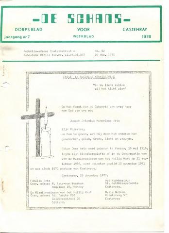 Castenrays dorpsblad De Schans 1978-12-29