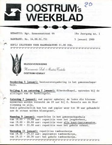 Oostrum's Weekblad 1989