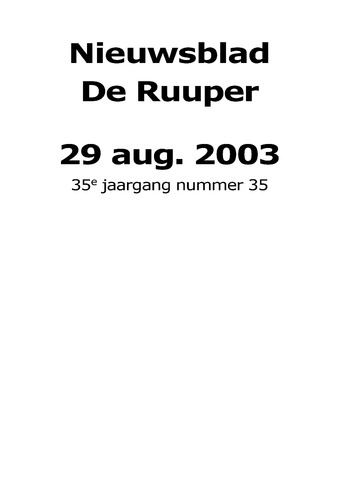 Dorpsblad Leunen-Veulen-Heide 2003-08-29