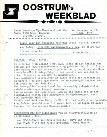 Oostrum's Weekblad 1975-05-01