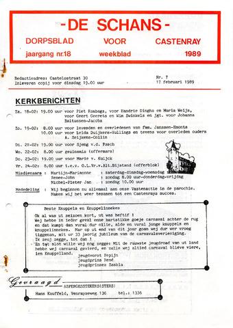 Castenrays dorpsblad De Schans 1989-02-17