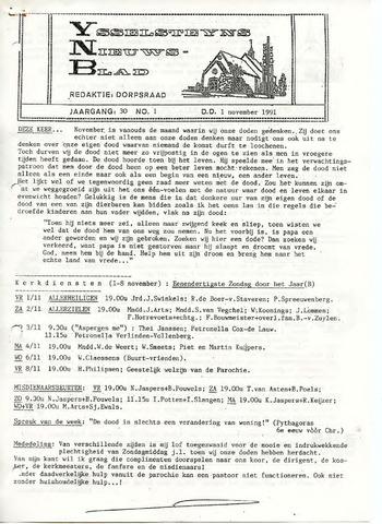 Ysselsteyns Nieuwsblad 1991-11-01
