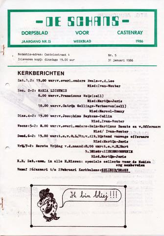 Castenrays dorpsblad De Schans 1986-01-31