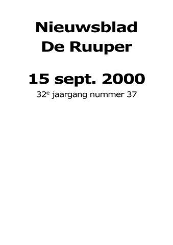 Dorpsblad Leunen-Veulen-Heide 2000-09-15