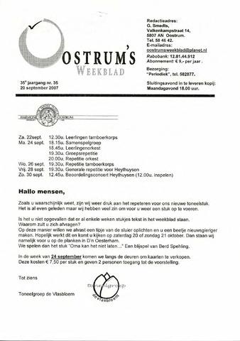 Oostrum's Weekblad 2007-09-20