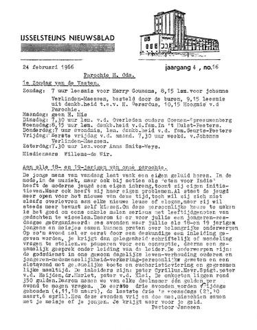 Ysselsteyns Nieuwsblad 1966-02-24