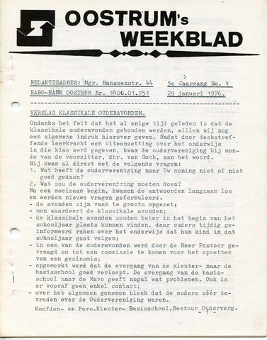 Oostrum's Weekblad 1976-01-29